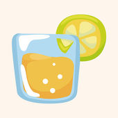 Juice drink theme elements — 图库矢量图片