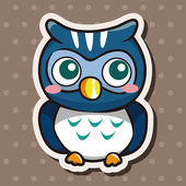 Owl cartoon theme elements vector,eps — Stock Vector