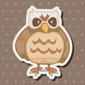 Bird owl cartoon theme elements vector,eps — Stock Vector