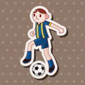 Sport soccer player theme elements vector,eps — Stock Vector