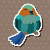 Bird cartoon design elements vector — Vettoriale Stock