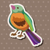 Bird cartoon design elements vector — 图库矢量图片