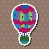 Hot air ballon design elements vector — Stock Vector