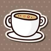 Fast food soup flat icon elements,eps10 — Stockvektor