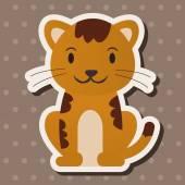 Animal cat flat icon elements, eps10 — Stock Vector
