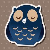 Animal owl flat icon elements, eps10 — Stock Vector