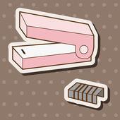 Stationary stapler theme elements vector,eps — Stock Vector