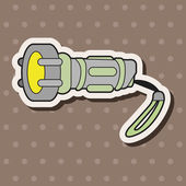 Work tool flashlight theme elements vector,eps — Stock Vector