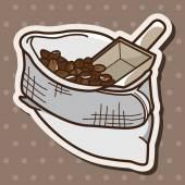 Bag of coffee bean theme elements vector, eps — Stock Vector