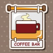 Coffee shop signs theme elements vector,eps — Stock Vector