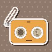 Radio theme elements vector,eps — Stock Vector