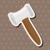 Work tool hammer theme elements vector,eps — Stock Vector