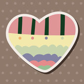 Любовь сердце мультфильм элементы вектора, eps — Cтоковый вектор