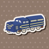 Transportation train theme elements vector,eps — ストックベクタ