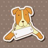 Köpek Tema öğeleri vektör, eps evde beslenen hayvan — Stok Vektör