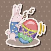Easter rabbit theme element vector,eps — Stock Vector