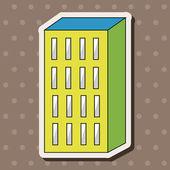 Edificio tema elementos vector, eps — Vector de stock
