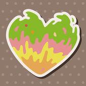 Amore cuore fumetto vettoriale, eps — Vettoriale Stock