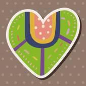 Love heart cartoon elements vector,eps — Vetor de Stock