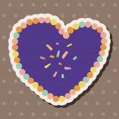 Love heart cartoon elements vector,eps — 图库矢量图片