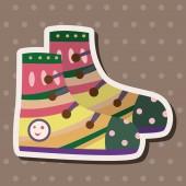 Shoe style theme elements vector,eps — Stock Vector