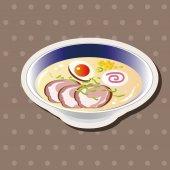 Japanese food theme Ramen noodles elements vector,eps — Stock Vector