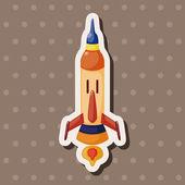 Spaceship theme elements vector,eps — Stock Vector