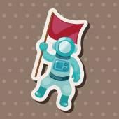 Spaceman theme elements vector,eps — Stock Vector