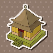 Chinese building theme elements vector,eps — ストックベクタ