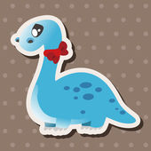 Dinosaur cartoon theme elements vector,eps — Stock Vector