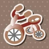 Transportation bike theme elements vector,eps — Stock Vector