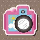 Camera theme elements — Stock Vector