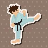 Taekwondo theme elements vector,eps — Stock Vector