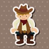 Cowboy theme elements vector,eps — Stock Vector