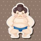 Elementos del tema de sumo — Vector de stock