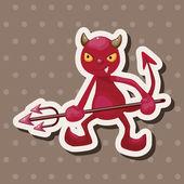 Devil theme elements — Stock Vector