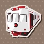 Transportation train theme elements — Stock Vector #71369403