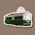Transportation train theme elements — Stock Vector #71369411