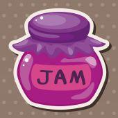 Jam theme elements — Stock Vector