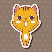 Animal cat cartoon theme elements — Stock Vector