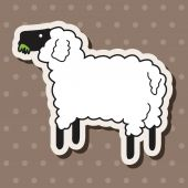 Animal sheep cartoon theme elements — Stock Vector