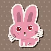 Animal rabbit cartoon theme elements — Stock Vector