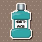 Mouthwash theme elements — Stock Vector