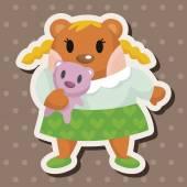 Bear cartoon theme elements — Stock Vector