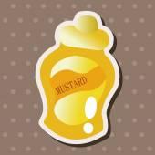 Mustard sauce theme elements — Stock Vector