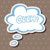 Message word ouch theme elements — Stock Vector