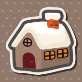 Gingerbread house theme elements — Stock Vector