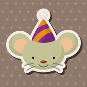 Animal mouse cartoon theme elements — Stock Vector