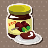 Barbecue equipment sauce theme elements — Stock Vector