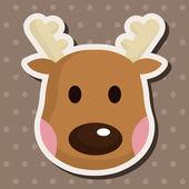 Reindeer theme elements — Stock Vector